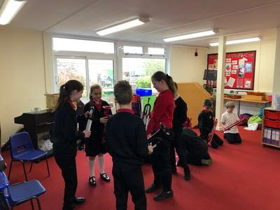 Students at Michael Drayton Junior School Investigate the pBugle