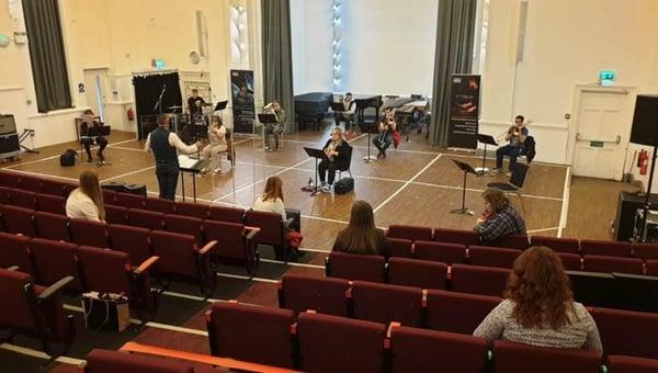 R. Harvey rehearsal