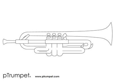 pTrumpet colouring sheet